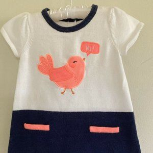 Gymboree Smart Sweet Bird Sweater Dress 12-18 MO